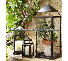 T Light Lantern For Garden and Home Decor Made of Iron