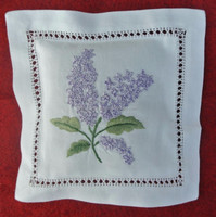 Hand embroidered lavender sachet/bag/pillow-floral embroidery (design #7)