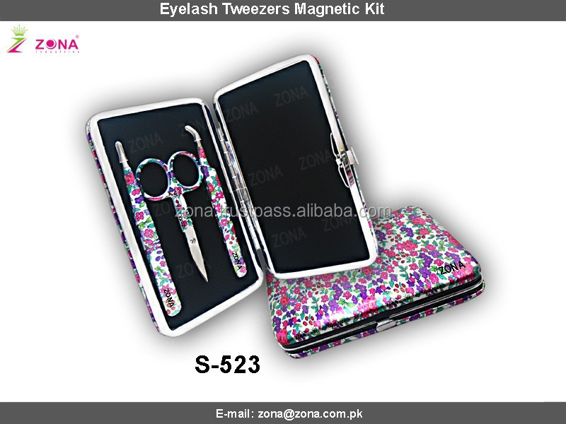 New 2016 Eyelash Extension Tweezers Kit/ Flowers Matching Tweezers Set / From ZONA- PAKISTAN