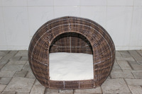 poly wicker Pet basket/ Dog bed with cushion inside, 2015 new product - CH2593
