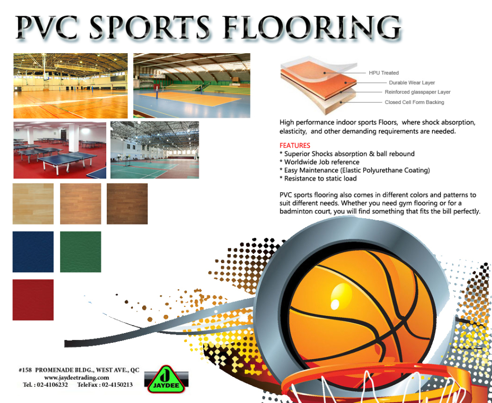 PVC SPORT FLOORING (Basketball,Tennis,Badminton,Volleyball)