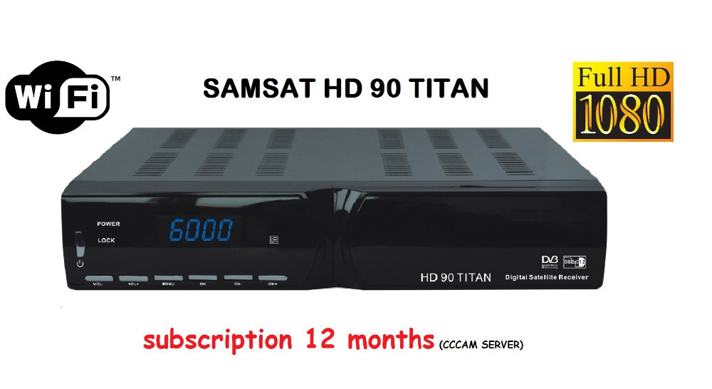 Samsat hd 90 titan with cccam server subscription 1year