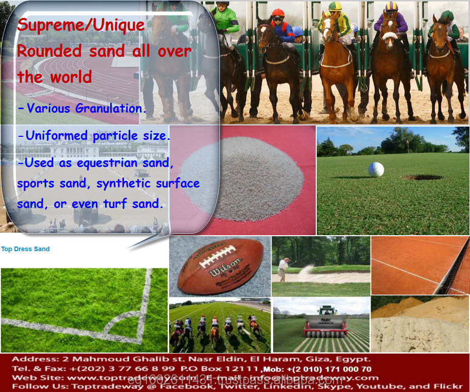 High deposit of silica sand for most of Sports