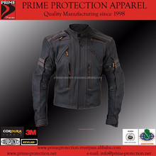 Cheap Price Leather Motorcycle Jacket with CE Approved Armors