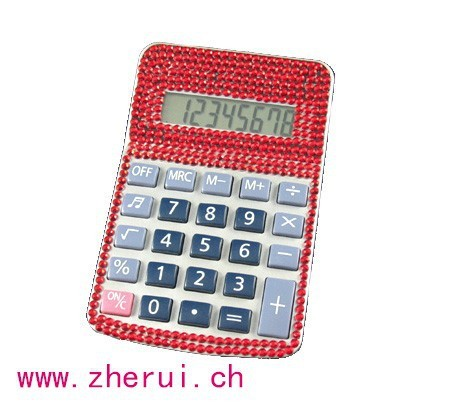 Fashion Dual Power bling diamond calculator for office supplies