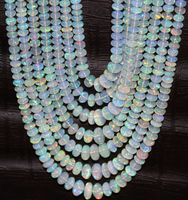Natural gemstone ethiopian opal micro faceted beads 4mm to 8mm AAA+quality large size