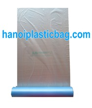 HDPE clear/natural film plastic flat food bag on roll food grade