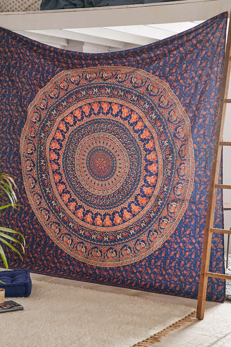 Indian Bohemian Mandala Tapestry Elephant Wall Hanging Hippie Bedspread Throw