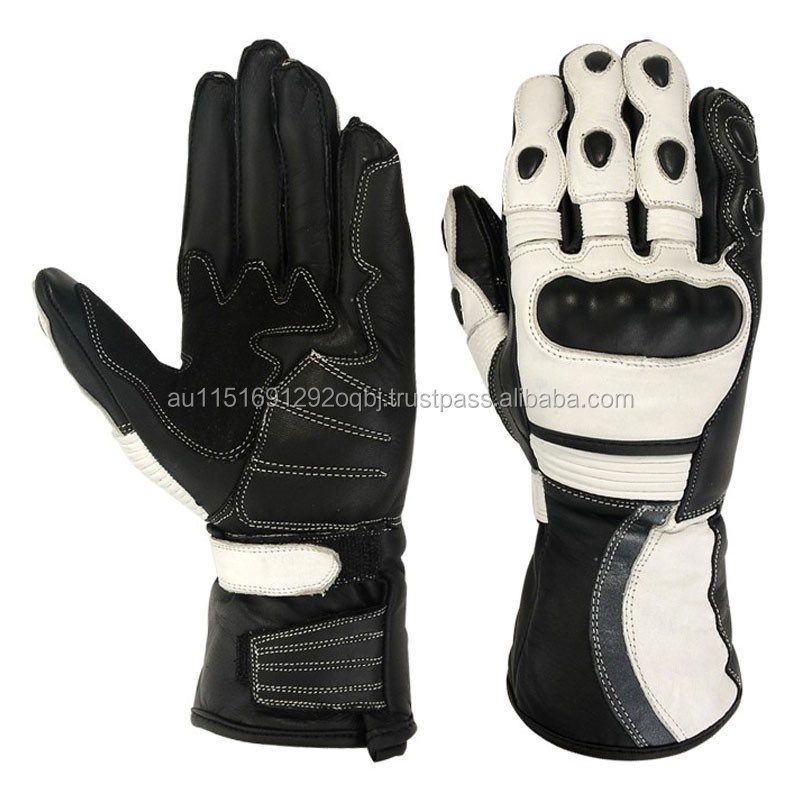 LADIES BIKER LEATHER GLOVES FOR MOTORCYCLE SAFETY