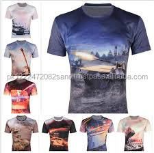 The War Theme Printed 3D T Shirts Men Fashion Short Sleeve Slim T Shirt