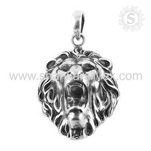 Phenomenal lion jewelry 925 sterling silver lion pendant handmade jewelry sterling silver pendants