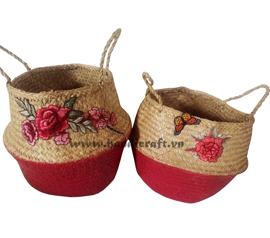 Beautiful floral embroidery sedge bags for ladies