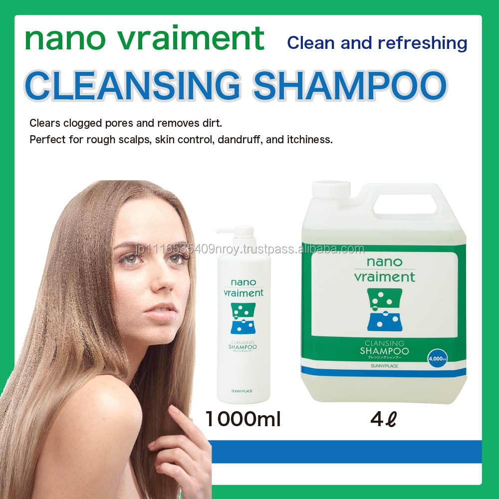 Nano vraiment refreshing hair salon shampoo and conditioner for dandruff treatment