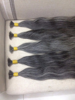 Grey Vietnamese remy hair Natural straight stock full lace wig for Afro women