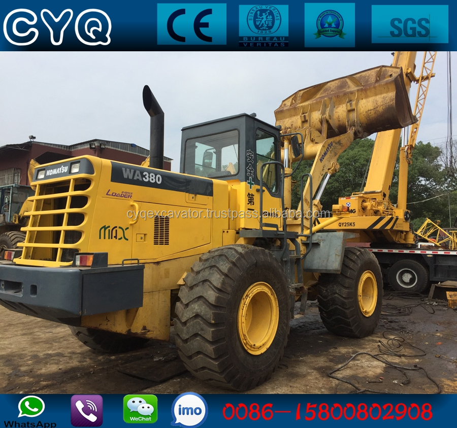 Original wheel loader Komatsu WA380-3 loader for sale (whatsapp: 0086-15800802908)