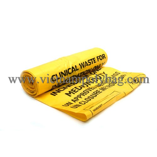 High quality flexo printing PE bin liner bag plastic bag very large trash bag