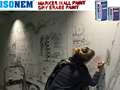 ISONEM MARKER WALL PAINT, WHITE BOARD DRY ERASE WALL PAINT, NON-TOXIC, SOLVENT FREE (ISONEM PAINT / MANUFACTURER FROM TURKEY)