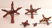 Wooden Tripod Stands for Seashells, Gems, Stones, Rocks, Minerals, Ostrich eggs, Spheres