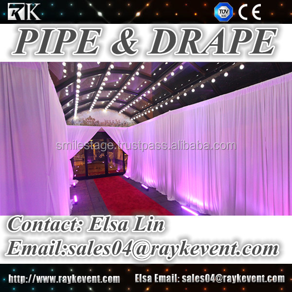 Hot sale cheap wedding pipe and drape, velvet drapery for wedding, party, event pipe and drape