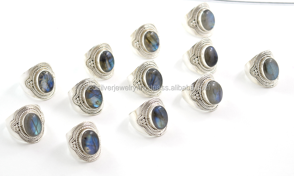 Nepal silver rings jewelry wholesale silver jewelry gemstone jewelry one stone ring designs