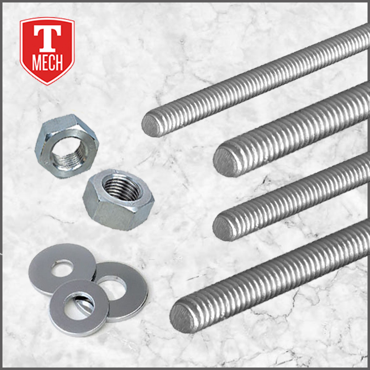 Full thread electrical zinc galvanized stainless steel threaded rod
