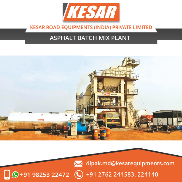 New Advanced Design Hot Mix Plant Available at Low Cost