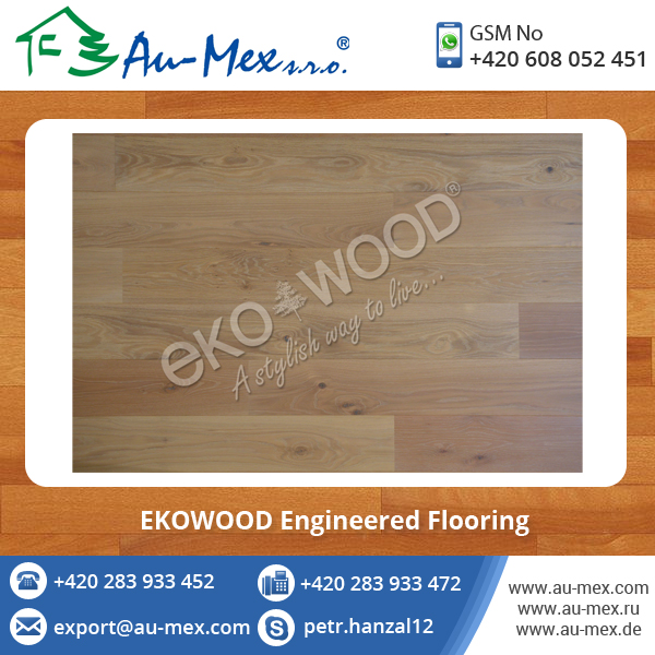 Most Selling Oak Eur Brushed WHITE Engineered Wood Flooring Supplier