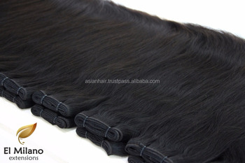 Top Quality 100% Unprocessed Machine Virgin Remy East European Hair Weft Smooth Straight Hair Extension