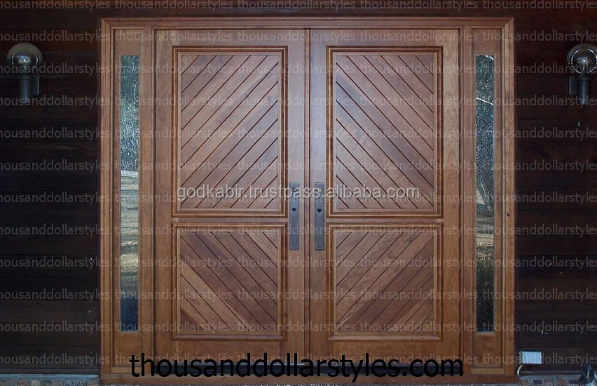 Royal paint Premium Double Front Wooden Doors apartments hot sale living room Luxury cheap wholeselling handmade Traditional