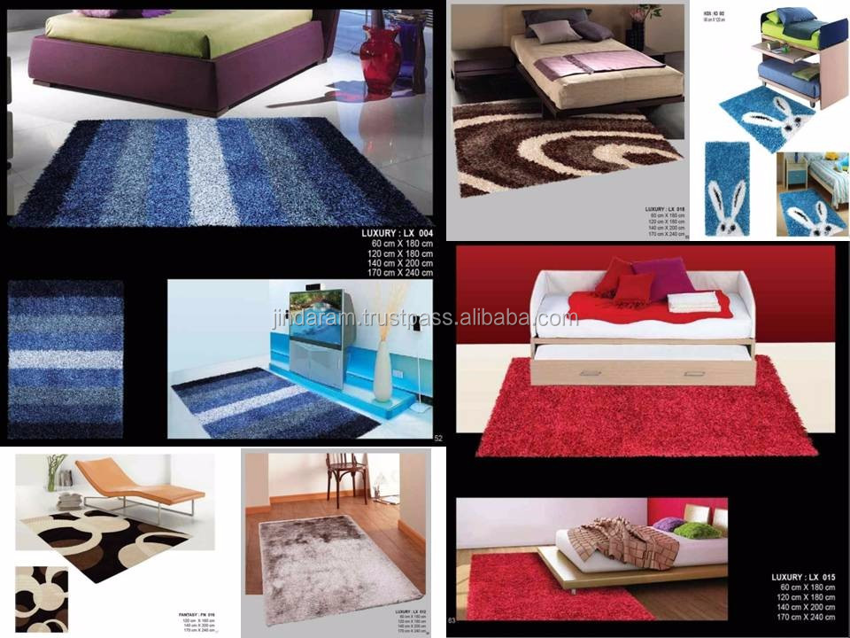 Modern cut and loop pile cotton carpets
