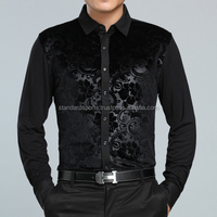 New-2014-Autumn-Luxury-Brand-Mens-Royal-Velvet-font-b-Shirt-b-font-Long-sleeved-font Standard Sports