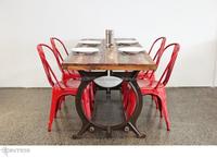 Metro Vintage DINING Table Set reclaimed wood top