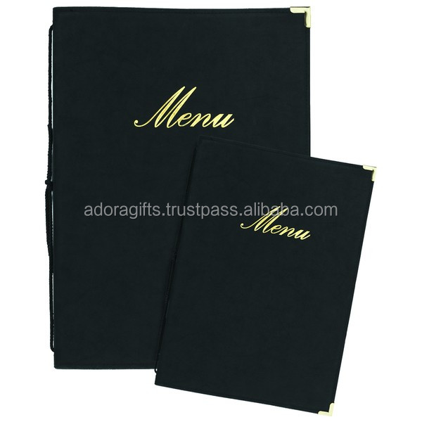 embossed your hotel name on leather menu cover on wholesale manufacturers