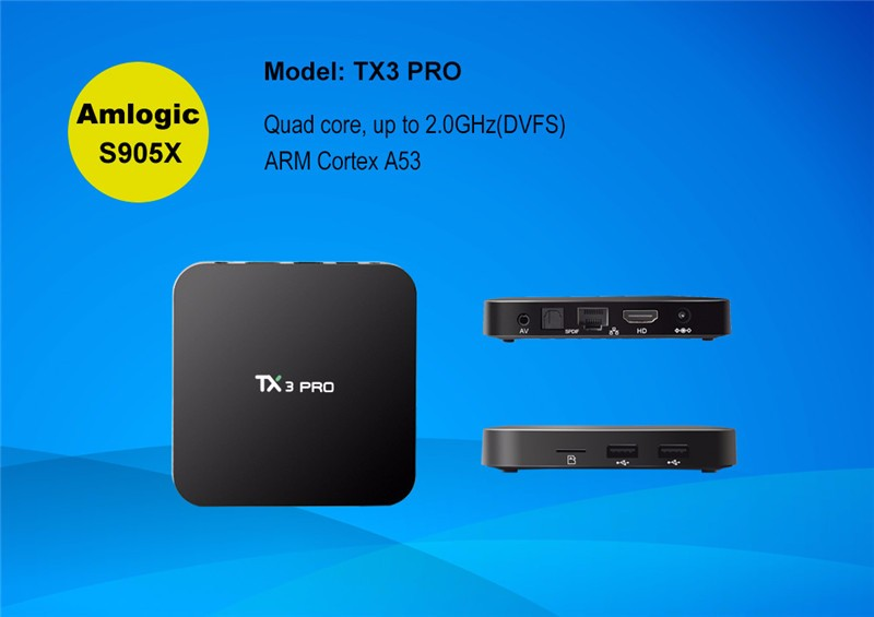 TX3 pro Amlogic S905X Android 6.0 TV Box 1GB 8GB KDplayer 16.1 quad core