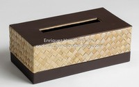 Tissue Paper Holder Box made from wove Buri with PVC trim
