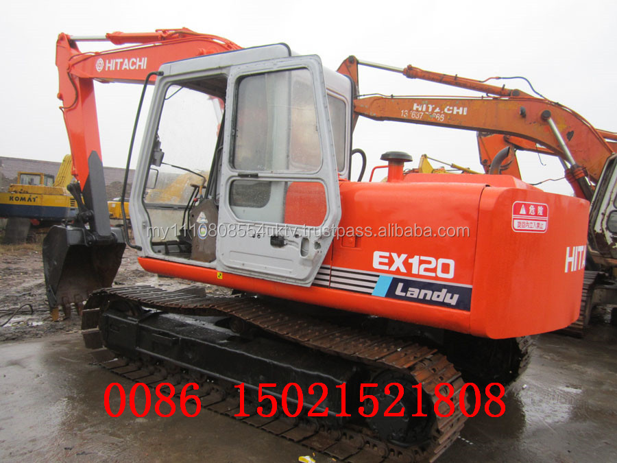 Construction machine Hitachi EX120-1 excavator Used excavator good condition call 0086 15021521808