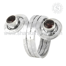 Huge Selection of 925 Silver Jewelry Garnet Ring Handmade Silver Jewelry Sterling Silver Manufacture