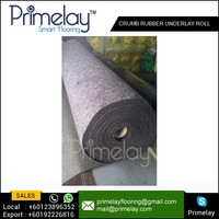 Flat Soundproof / Waterproof Rubber Carpet Underlay