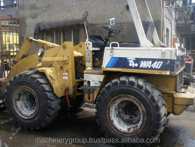 Used Wheel Mini Loader for Sale Japan, Used Komatsu wa40 Mini Wheel Loader