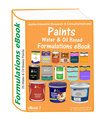 Formulations eBooks on oil and water based paints(eBook7)