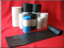 Star Seal Recycled Plastic Garbage Bag on roll with paper band