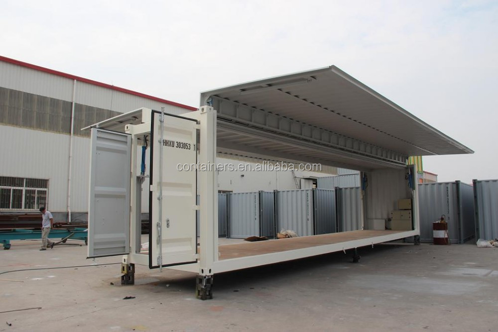 40ft hc side open flying storage container buy 40ft side open flying shipping container 40ft. Black Bedroom Furniture Sets. Home Design Ideas