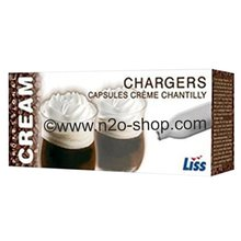 Nitrous Oxide Whipped Cream Chargers Liss (8g, N2O), Boxes of 50