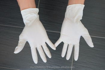 "9""Latex examination gloves powder free"