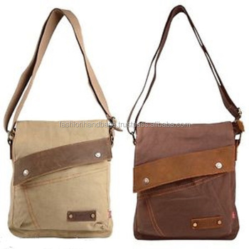 Wholesale ODM/OEM Satchel Canvas Messenger Bag
