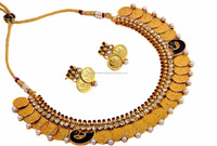 South Indian Jewellery - Gini Lakshmi Coin Necklace Set - Traditional Jewellery Set - Wholesale Indian Jewellery