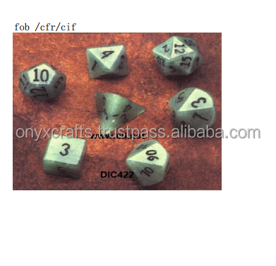 Low Cost Color Marble 12 Sided Dice