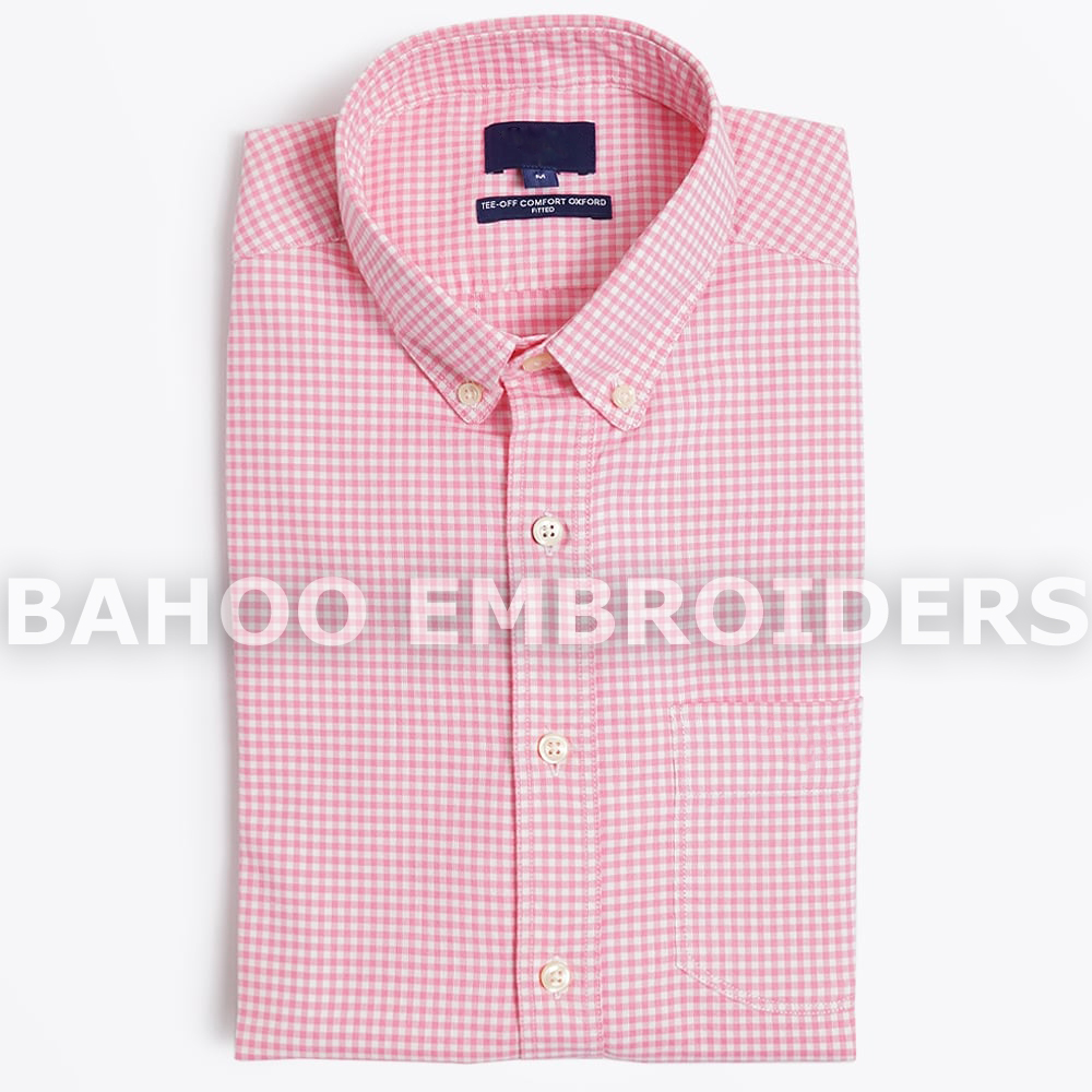 Tee Off Comfort Gingham Shirt - Lipstick Color | Dress Shirts