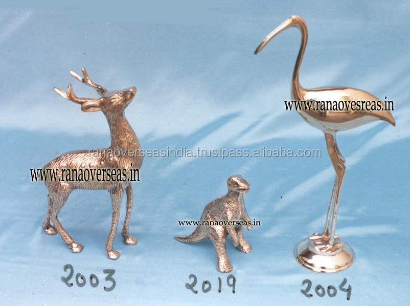 Brass Metal Decorative Deer, Dinasour And Swan, Home table Top Decor