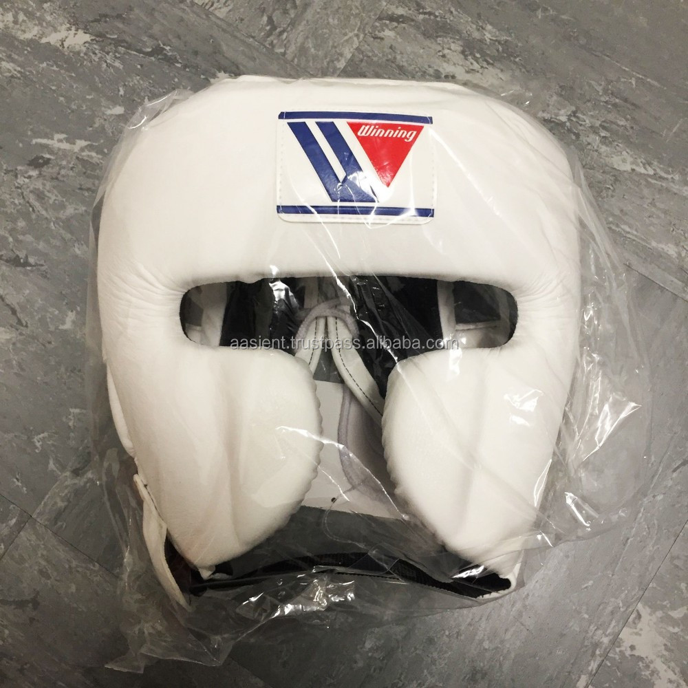 boxing brand head guard in high quality Cowhide leather with custom logo